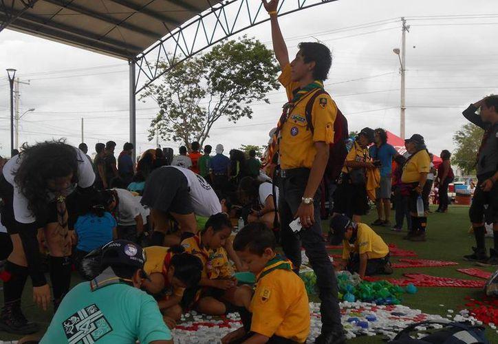 Este año los scouts yucatecos consiguieron casi 125 mil pesos durante el Tapatón. (Facebook: Tapatón Scout Yucatán)