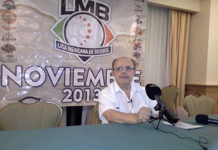 Imagen de archivo de Plinio Escalante Bolio. El yucateco fue ratificado en su puesto en la Asamblea de la Liga Mexicana de Beisbol de Verano. (Archivo/SIPSE)