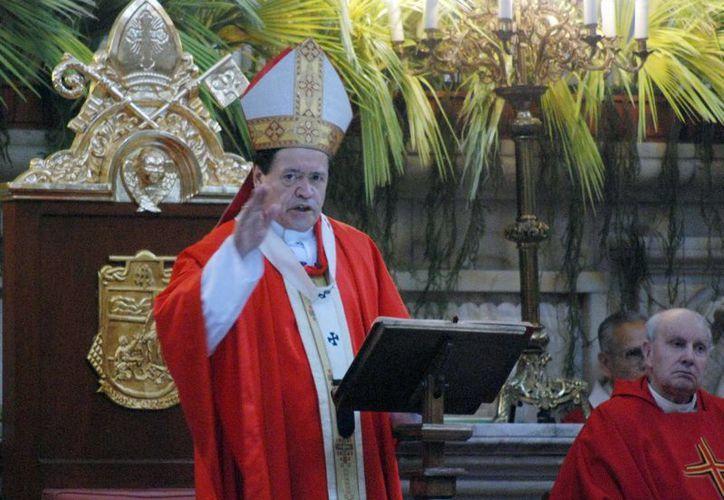 El cardenal Norberto Rivera Carrera dictó a sacerdotes una serie de recomendaciones en cuestiones de seguridad. (Archivo/Notimex)