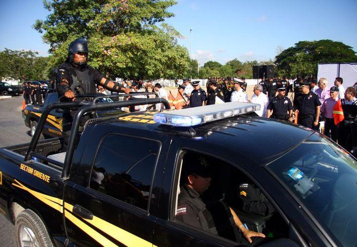 Los agentes de la SSP se capacitan con base en el nuevo sistema de justicia penal. (Jorge Pallota/SIPSE)