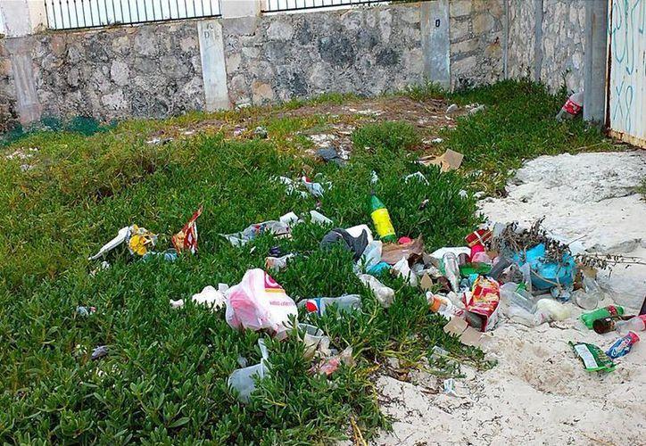 Apenas ayer sábado, eran recolectados 390 kilogramos de residuos; un día después, el problema continúa latente. (Facebook)