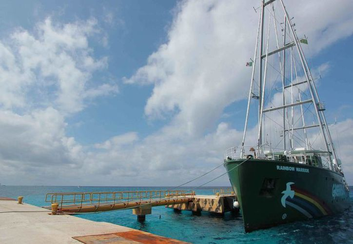 El barco se quedará en la isla hasta el 16 de febrero. (Gustavo Villegas/SIPSE)