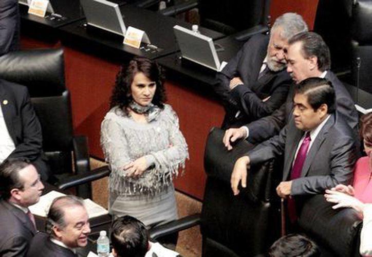 Se llevó a cabo el primer día de actividades del segundo Periodo Extraordinario de Sesiones, en el Senado de la República. (Notimex)