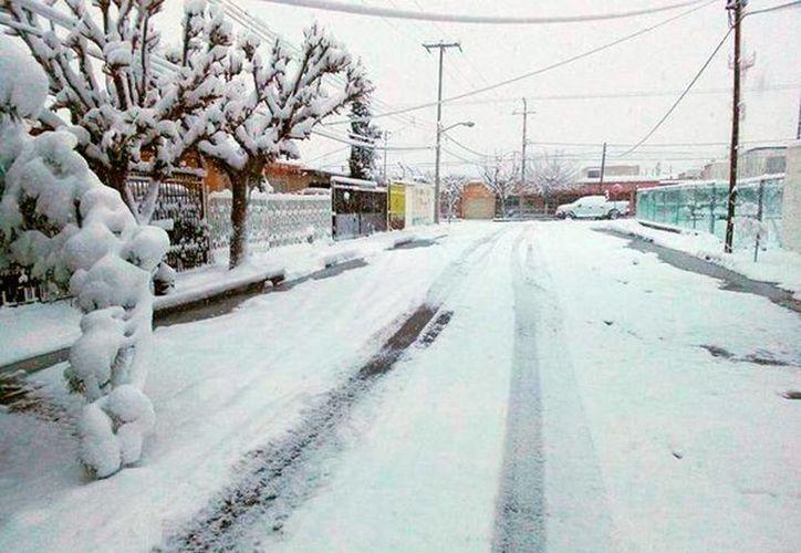 La quinta tormenta invernal y el frente frío número 24 prácticamente congelaron el norte de México. La imagen corresponde a Chihuahua. (Notimex)