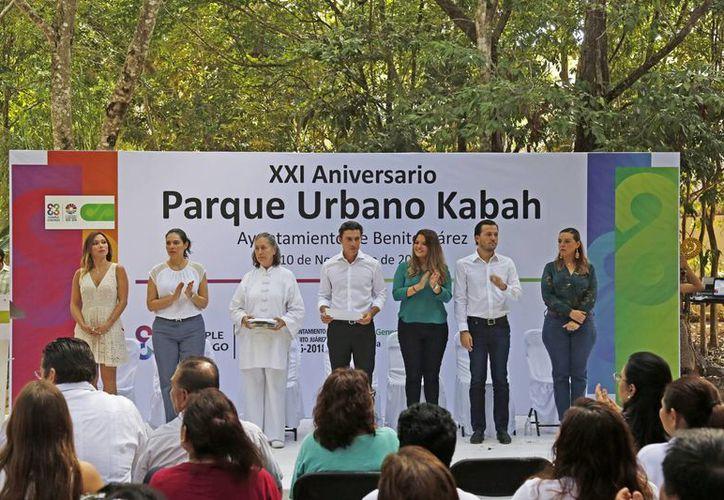 Las autoridades realizaron una ceremonia por el aniversario. (Jesús Tijerina/SIPSE)