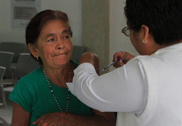 La vacuna debe aplicarse a niños de seis meses a cinco años y adultos mayores de 60 años, entre otros. (Ángel Castilla/SIPSE)