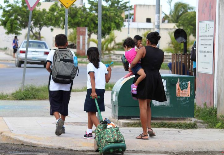 Casi la mitad de los estudiantes ya salieron de vacaciones. (Octavio Maartínez/SIPSE)