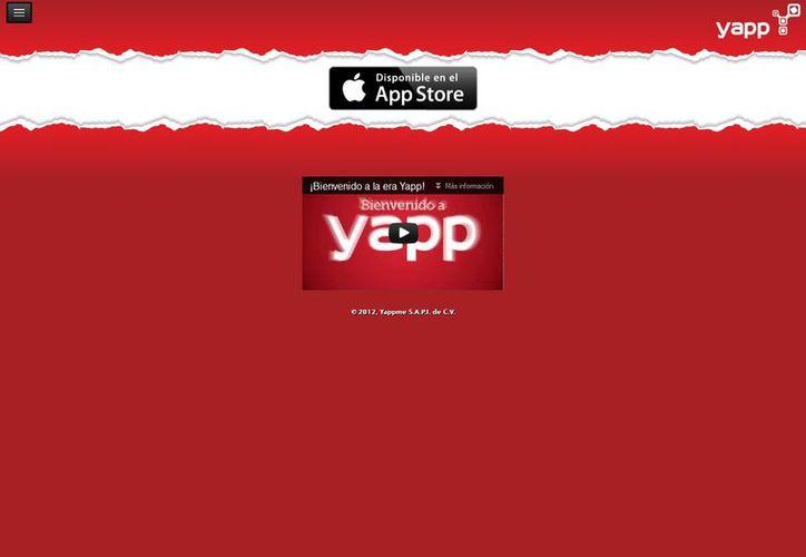 Para comprar con Yapp, únicamente se requiere bajar la app. (yappme.com)