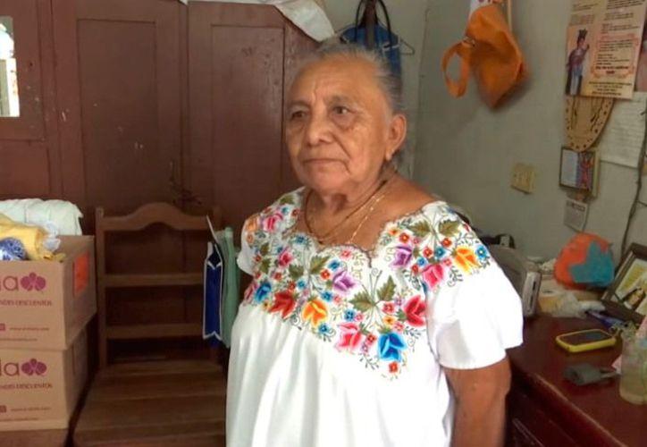 Viuda y sin hijos, María Dzul, de 72 años fue víctima de un estafador. (Novedades Yucatán)
