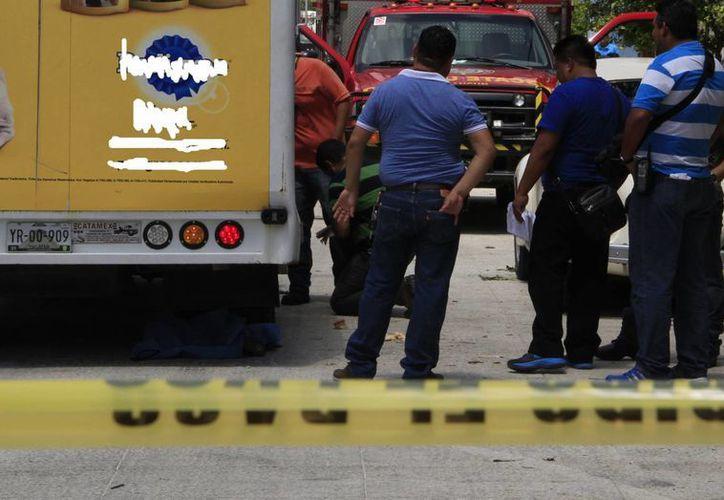 El hecho se registró en la Región 228, calle 80, frente a la manzana 30. (Tomás Álvarez/SIPSE)