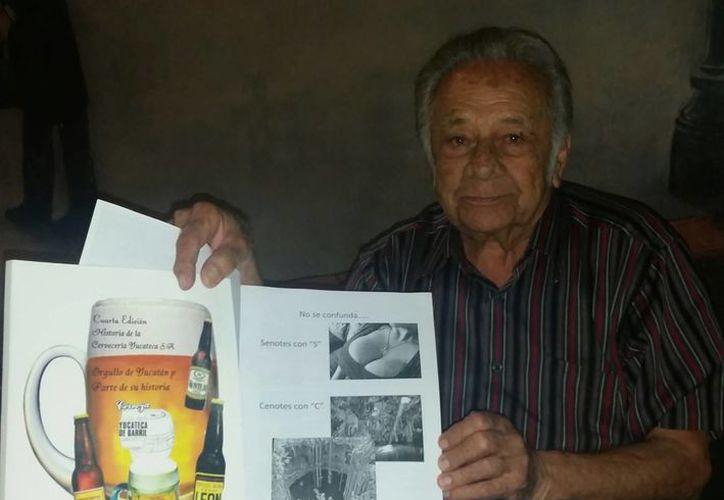 El profesor Mariano López Gil  aporta agradabilísimos datos sobre la cerveza en Yucatán que vale la pena recordar. (Sergio Grosjean/SIPSE)