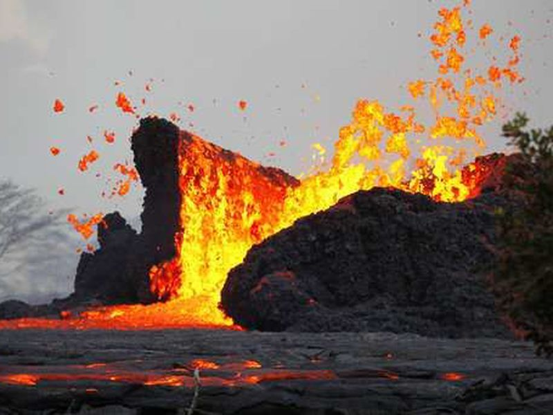 "There's no indication about whether lava volume will increase or decrease"". (AP)"