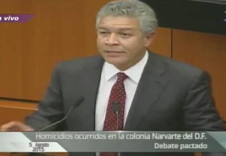 Captura de pantalla del Canal del Congreso en un debate acerca del multihomicidio en la colonia Narvarte el día de hoy miércoles. (Captura de pantalla)