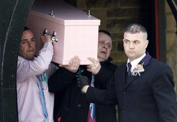 El funeral de Jade Anderson. (mirror.co.uk)