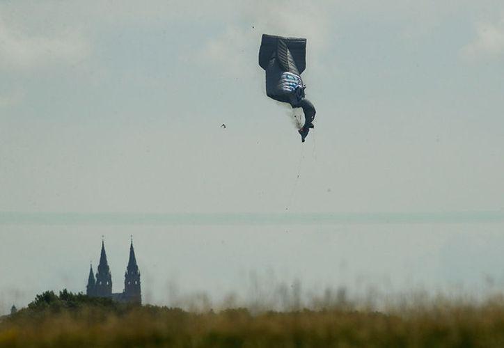 El dirigible se incendió en el aire y cayó rápidamente, a eso de las 11:15 de la mañana. (Foto: Excélsior)