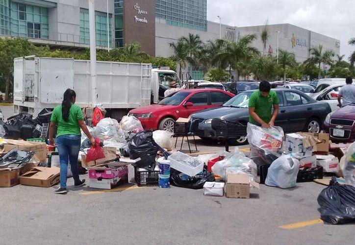 En cada reciclatón, son instalados seis centros de acopio en el municipio. (Paola Chiomante/ SIPSE)