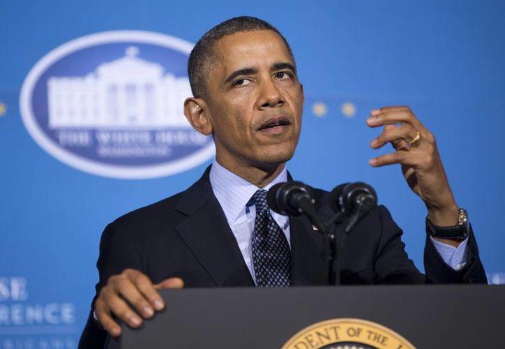 Este es el peor nivel de popularidad de Obama desde 2011. (Agencias)