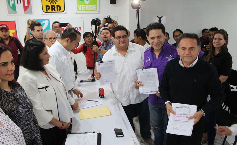 MORENA, Encuentro Social (PES) y del Trabajo (PT), pretenden impulsar la alianza denominada Juntos Haremos Historia. (Joel Zamora/SIPSE)