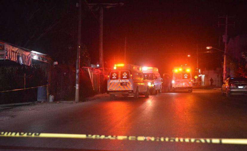 Dos personas recibieron impactos de bala anoche en la Región 209 de Cancún. (Redacción/SIPSE)