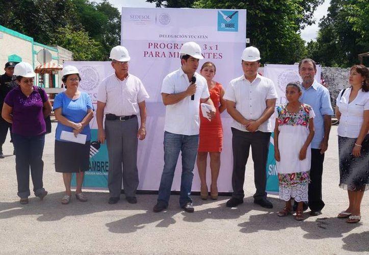 El programa 3x1 entregó 700,000 pesos a Chocholá. (Cortesía)