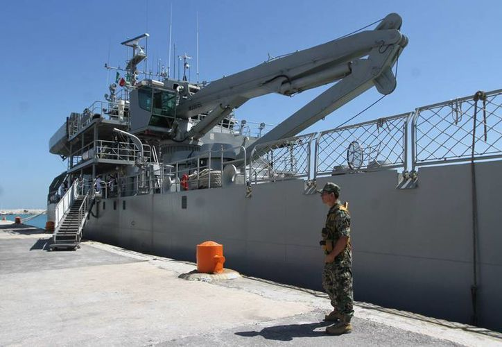 La misión del buque Libertador, de la Armada de México, es aportar apoyo a labores de protección civil en caso de desastre. (Cortesía)