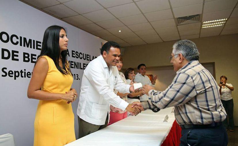 El gobernador Rolando Zapata Bello en un evento que encabezó el miércoles. (SIPSE)