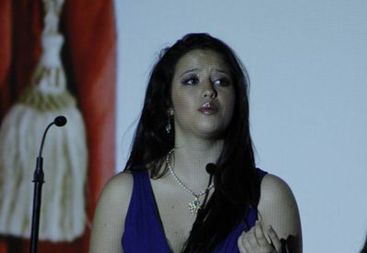 Ciara Mullarkey tiene deseos de continuar sus estudios para dedicarse al Bel Canto. (Redacción/SIPSE)