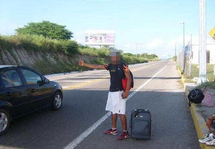 Hernández Godínez se vio obligado a pedir un aventón para regresar a Chetumal. (Foto de Contexto/SIPSE)