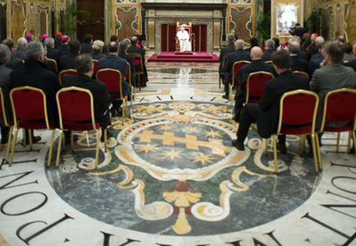 El Papa Benedicto XVI durante una audiencia en la Sala Clementina. (Agencias)