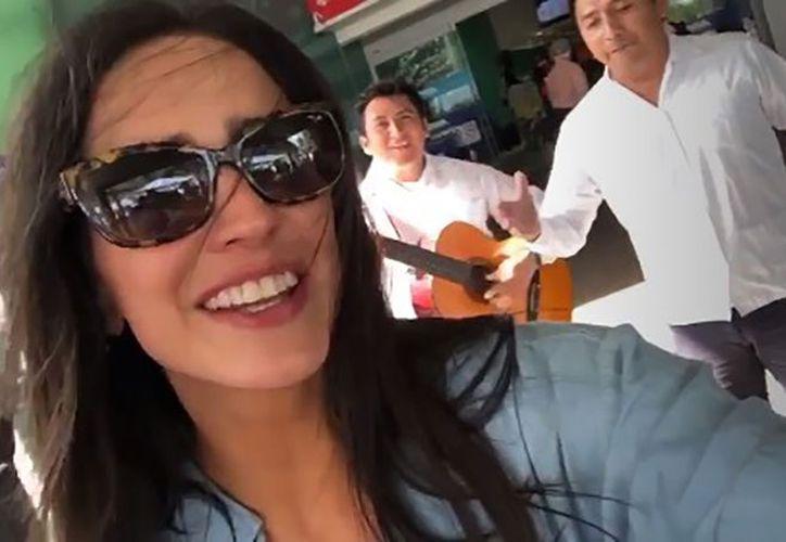La protagonista de Rosario Tijeras se encuentra de visita en la capital yucateca. (Instagram)