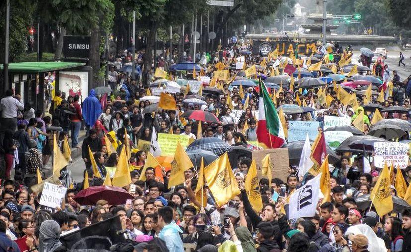 El contingente se concentrará en la Plaza de la Constitución. (Twitter)