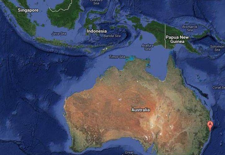 En la esquina derecha del mapa se aprecia la zona donde falleció el joven a consecuencia del ataque de un tiburón. (Google Maps)