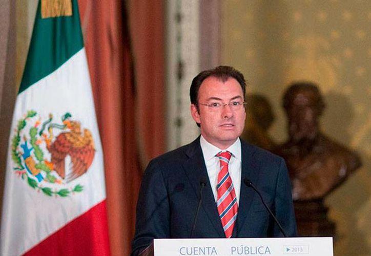Luis Videgaray aseguró que, con las reforma estructurales, México crecerá, en promedio, cinco por ciento anual. (Archivo/excelsior.com.mx)