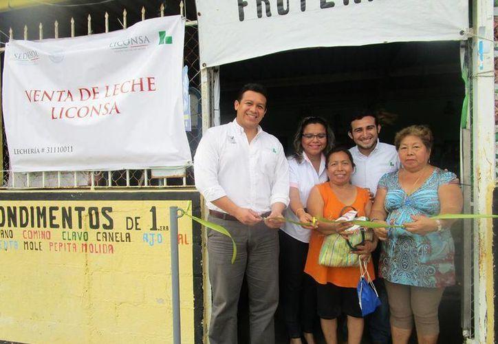 Este lunes fue inaugurada una nueva lechería meridana de Liconsa, en la colonia Francisco I. Madero. (Foto cortesía del Gobierno)