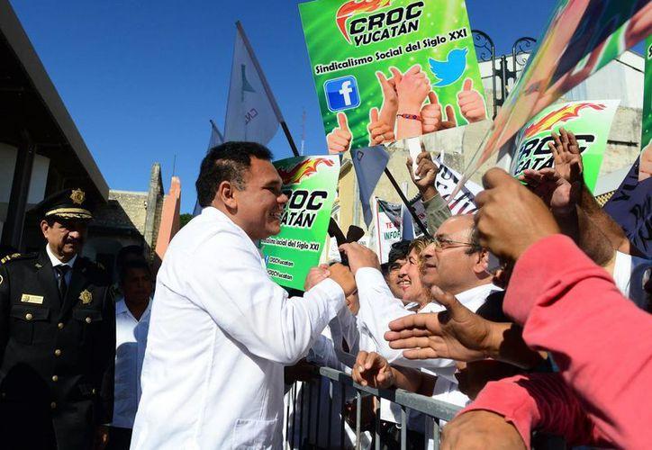 Rolando Zapata Bello presentó el día de ayer su I Informe de Gobierno. (Luis Pérez/SIPSE)