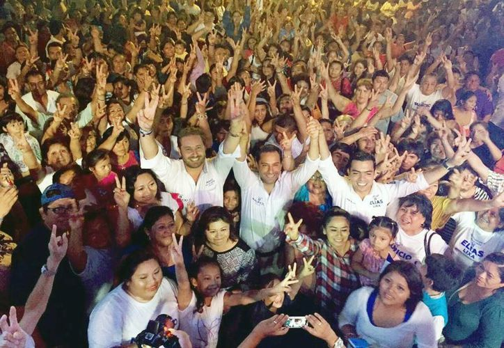 Mauricio Vila, candidato del PAN a la alcaldía de Mérida, en el cierre de campaña del IV Distrito local. (SIPSE)