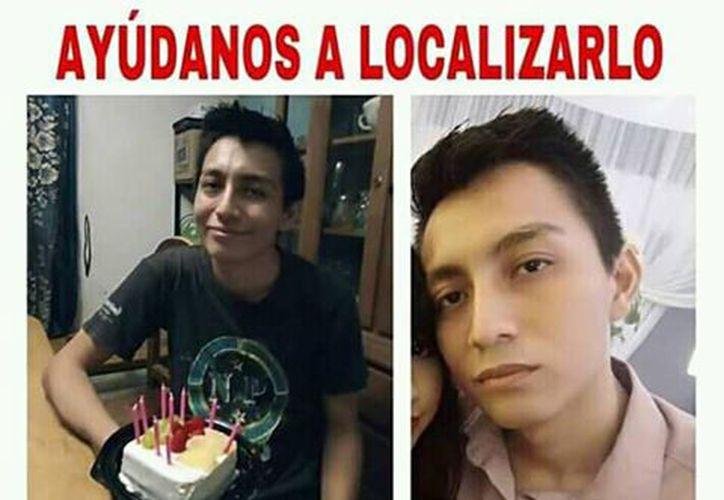 Imagen del joven desaparecido (Redes sociales)
