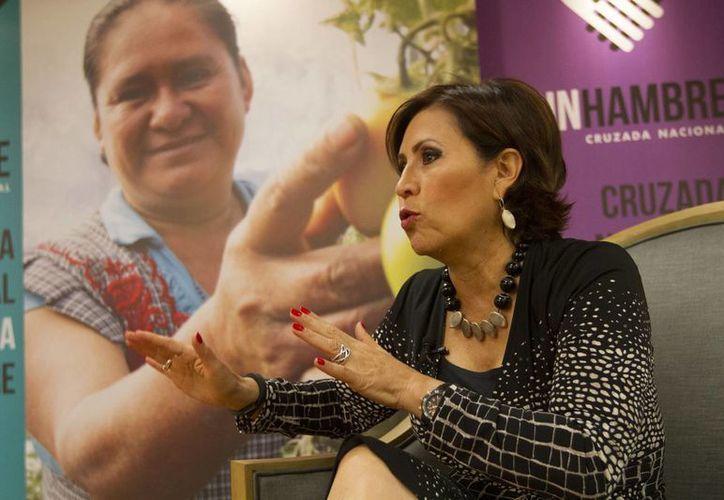 Rosario Robles destacó la labor de los voluntarios de la Cruzada contra el Hambre. (Notimex)