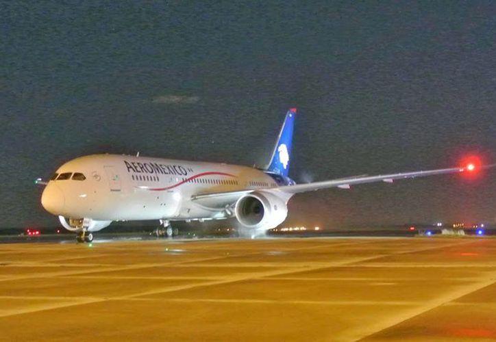 Tres aviones de Aeroméxico serán parte del proyecto Amdar México, el cual compartirá información meteorológica en tiempo real con la Conagua. (Archivo/Notimex)