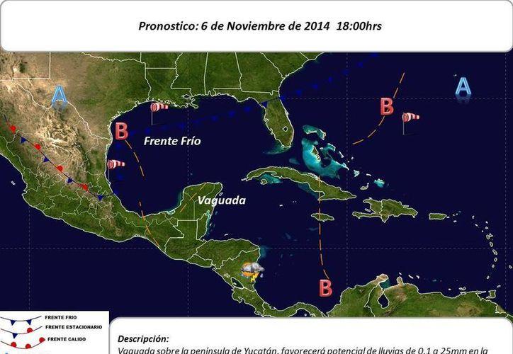 El sistema frontal No. 10 se extenderá desde el noreste de EU hasta el norte del Golfo de México, prolongándose como estacionario hasta las costas de Tamaulipas y Veracruz. (Conagua)