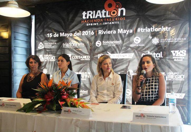 Victoria Juanicotena, la destacada triatleta confirmó su participación en la justa. (Ángel Mazariego/SIPSE)