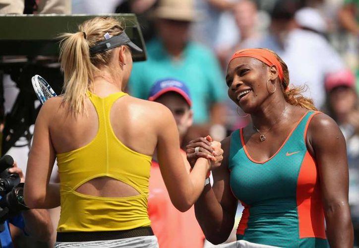 La balanza se inclina a favor de Serena Williams quien ha ganado 15 de sus últimos enfrentamientos ante Sharapova. (Foto: Agencias)