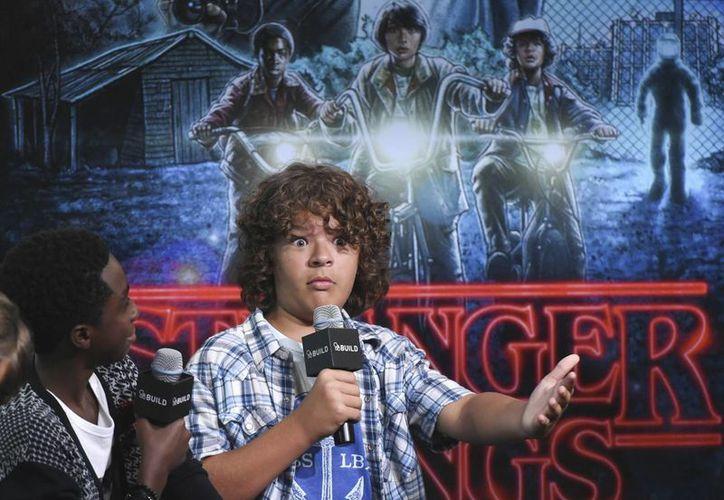 Netflix anunció su segunda temporada en un comercial en el Super Bowl 51, en Houston. En la imagen, Gaten Matarazzo, uno de los protagonistas de la exitosa serie. (AP/Evan Agostini)