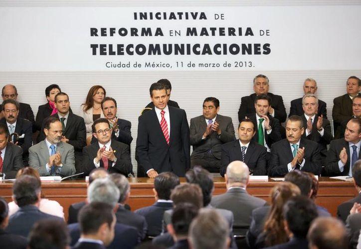 El presidente Enrique Peña Nieto, encabezó el evento. (Notimex)