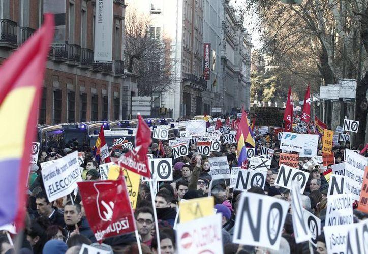 Las manifestaciones en Madrid se han recrudecido en los últimos días. (Agencias)