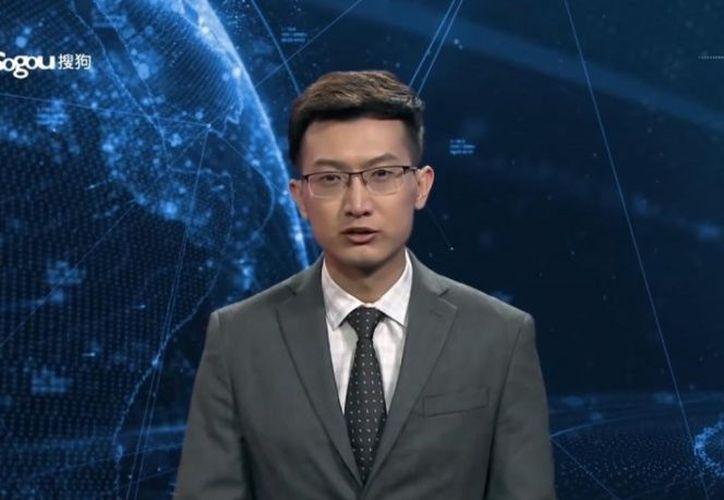 El primer conductor de noticia de inteligencia artificial debuta en China. (Foto: Captura de pantalla)