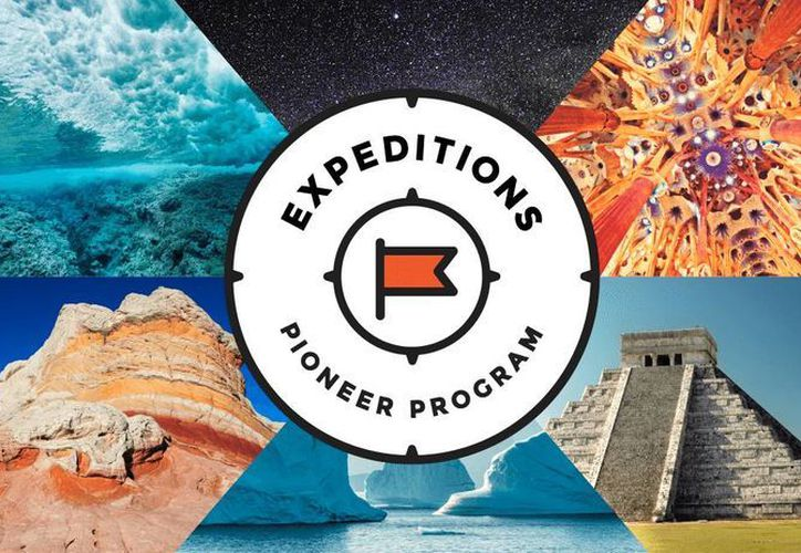 Expeditions es una colección de imágenes de realidad virtual, panorámicas en 360 grados, ricas en detalles, y puntos de interés de Google. (google.com)