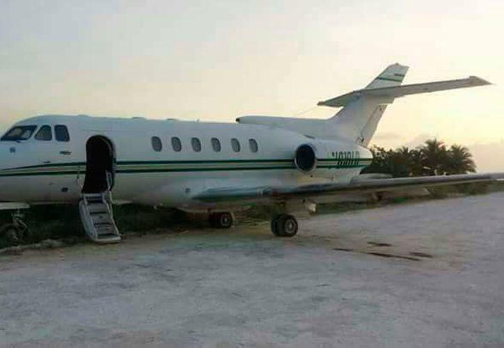La aeronave se encontró en  carretera de terracería que conduce a San Esteban, en Orange Walk. (Redacción/SIPSE)