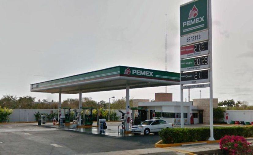 La gasolinera en Mérida que evitó la verificación de Profeco. (Foto: captura de pantalla)