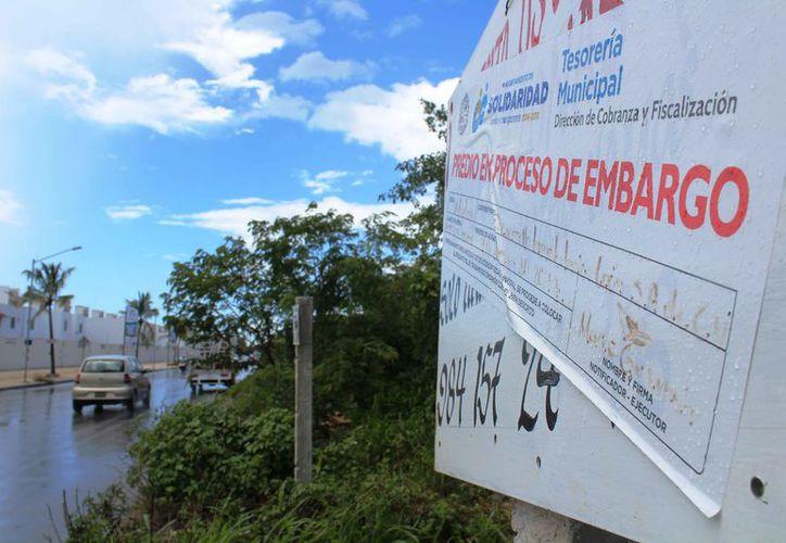 Inician procesos de embargos en terrenos que tienen adeudos. (Octavio Martínez/SIPSE)